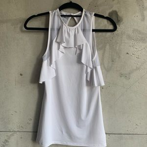 ☀️3 for $20☀️ Bebe white ruffle top size small
